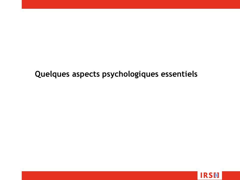 Quelques aspects psychologiques essentiels