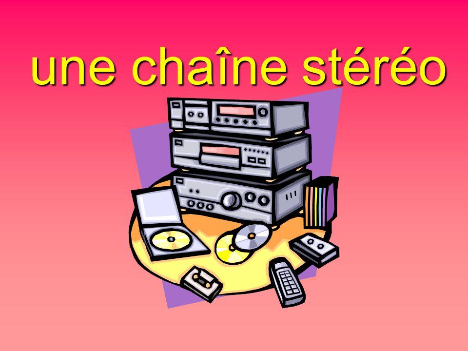 une chaîne stéréo