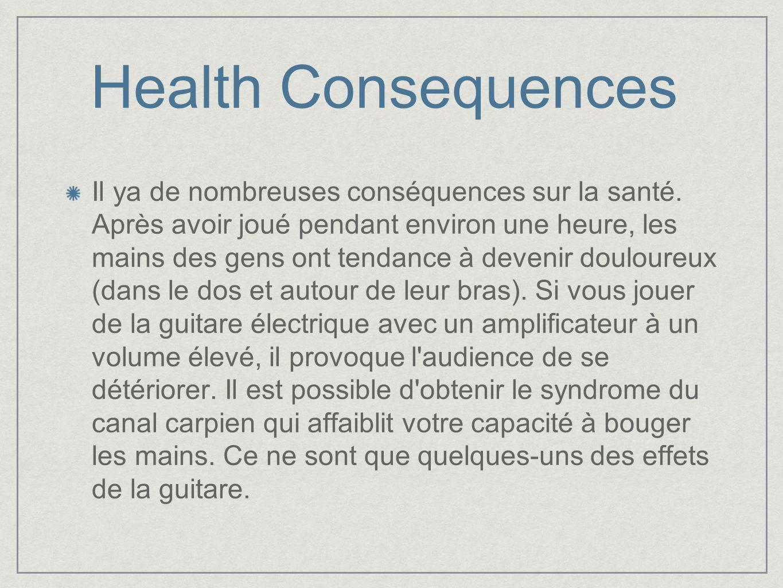 Health Consequences Il ya de nombreuses conséquences sur la santé.