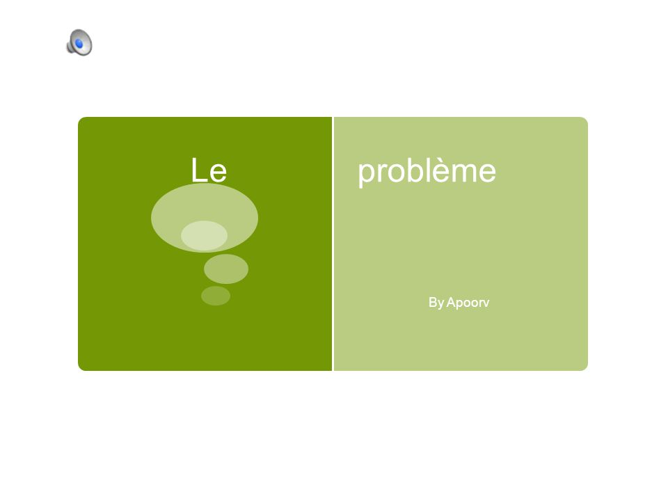 Le problème By Apoorv