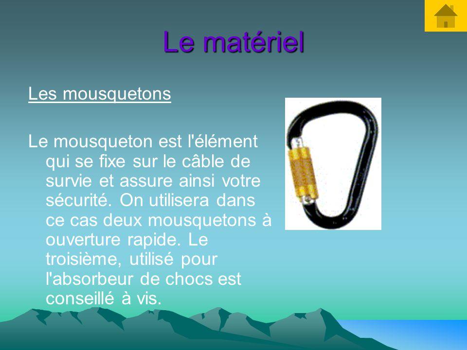 Le matériel Le casque Le casque est nécessaire car il protège avant tout des chutes de pierres et des chocs éventuels contre les parois rocheuses. Il