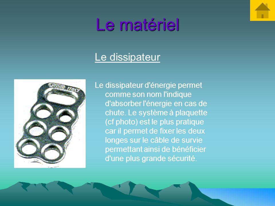 Le matériel Les mousquetons Le mousqueton est l'élément qui se fixe sur le câble de survie et assure ainsi votre sécurité. On utilisera dans ce cas de