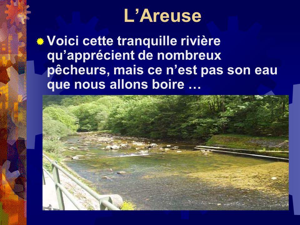 LAreuse Voici cette tranquille rivière quapprécient de nombreux pêcheurs, mais ce nest pas son eau que nous allons boire …