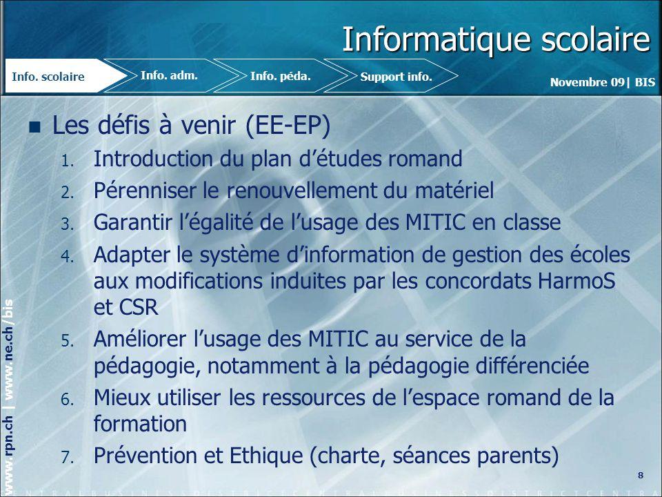 Novembre 09| BIS www.rpn.ch | www.ne.ch/bis MEMOT 2 29 Info.