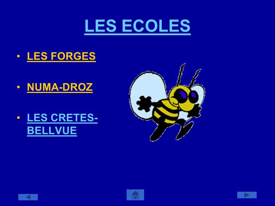 LES ECOLES LES FORGES NUMA-DROZ LES CRETES- BELLVUELES CRETES- BELLVUE