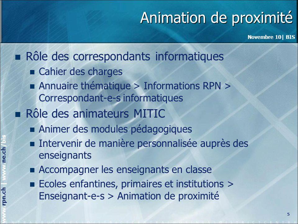 Novembre 10| BIS www.rpn.ch | www.ne.ch/bis Synthèse des inscriptions 6