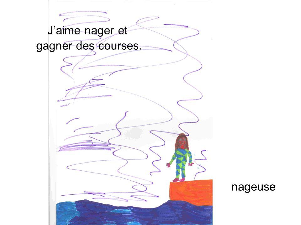 nageuse Jaime nager et gagner des courses.