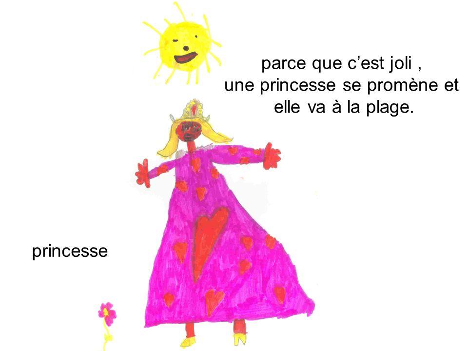 parce que cest joli, une princesse se promène et elle va à la plage. princesse