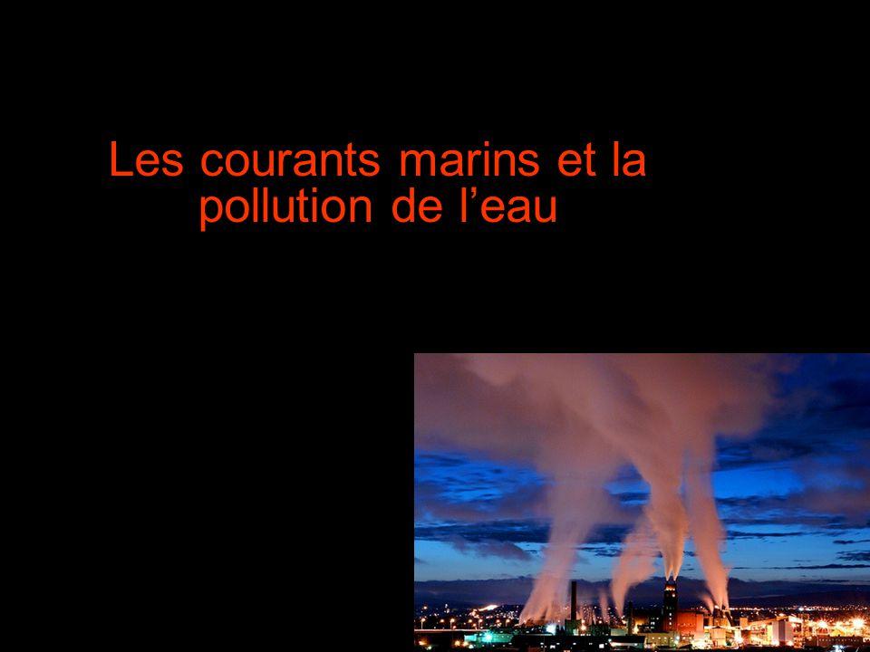 Les courants marins et la pollution de leau