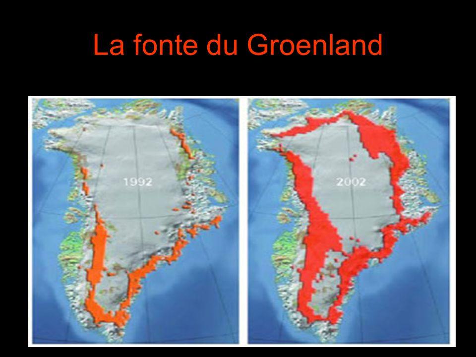 La fonte du Groenland