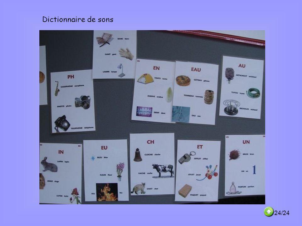 Dictionnaire de sons 24/24