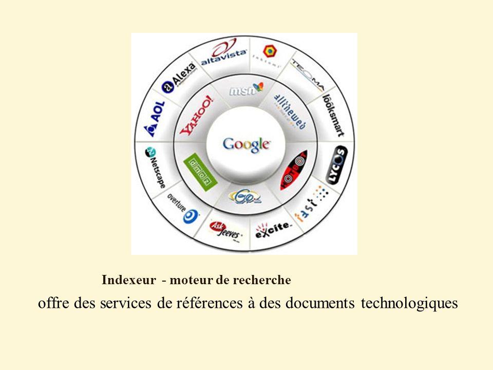 Indexeur - moteur de recherche offre des services de références à des documents technologiques