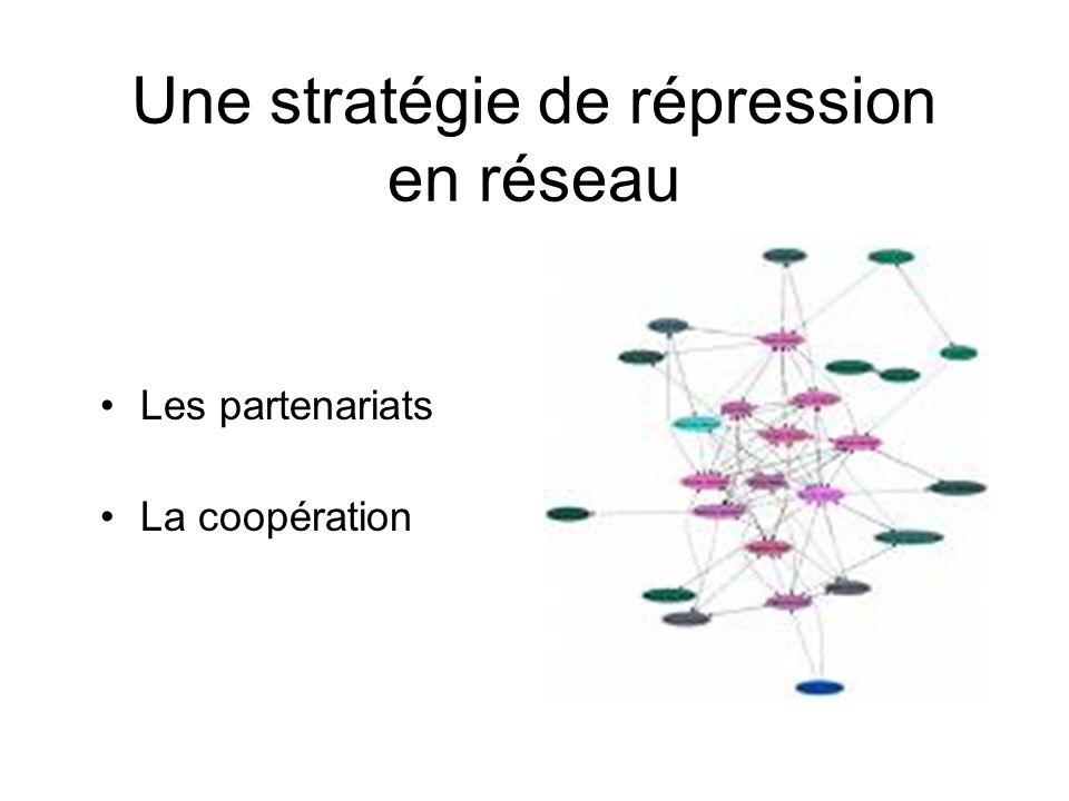 Une stratégie de répression en réseau Les partenariats La coopération