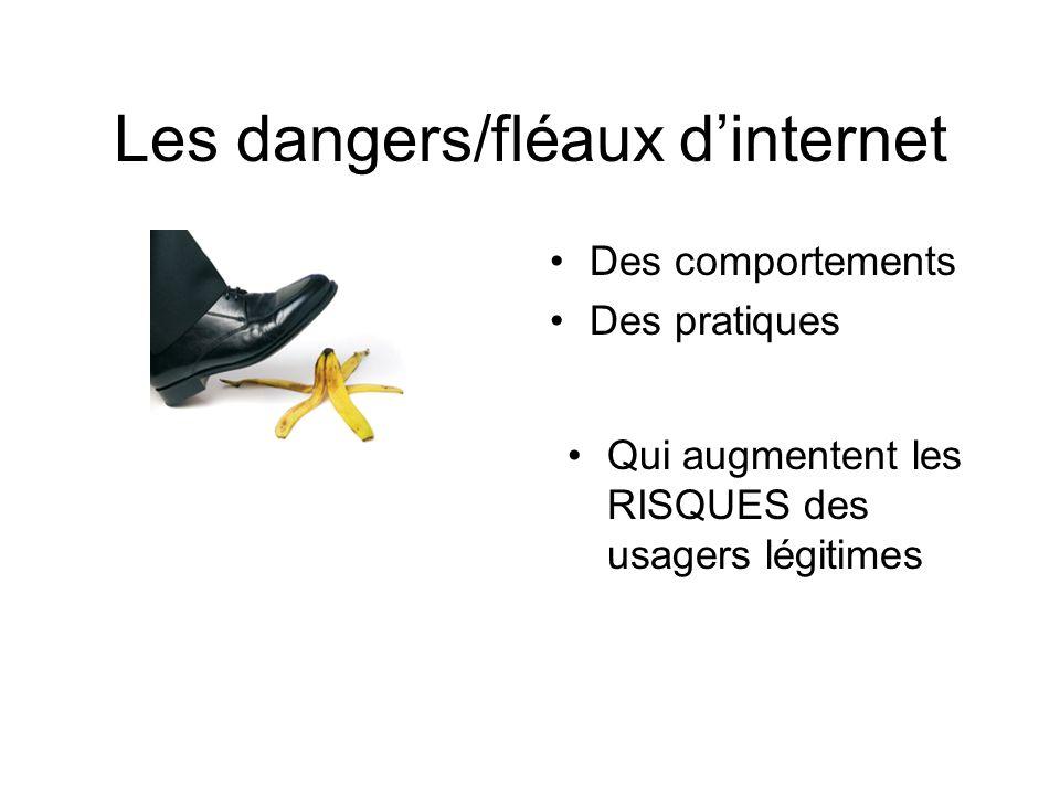 Les dangers/fléaux dinternet Des comportements Des pratiques Qui augmentent les RISQUES des usagers légitimes