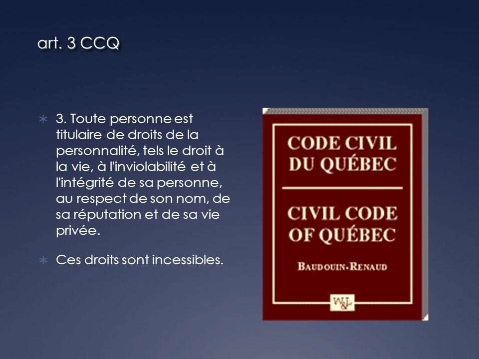 1457 C.c.Q Toute personne a le devoir de respecter les règles de conduite qui, suivant les circonstances, les usages ou la loi, s imposent à elle, de manière à ne pas causer de préjudice à autrui.