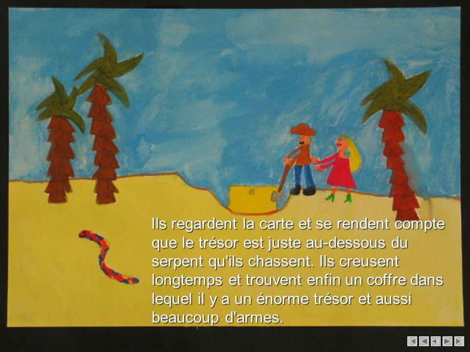 Ils arrivent dans une région désertique où il y a beaucoup de sable et rencontrent un serpent. Ils arrivent dans une région désertique où il y a beauc