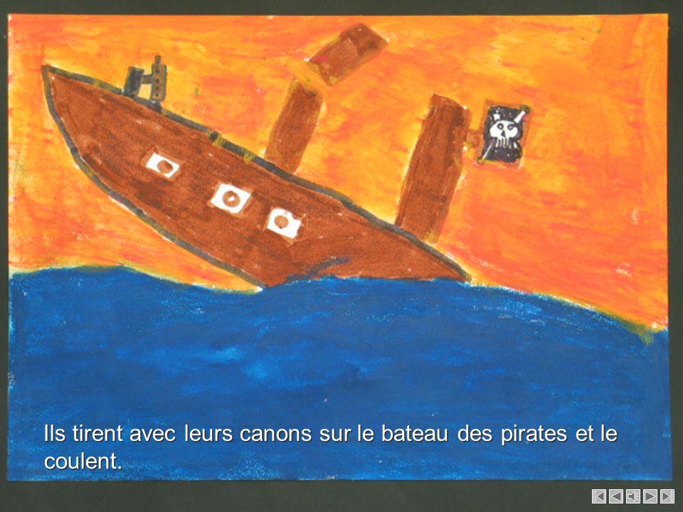 L équipage et les passagers du Santiano retournent sur leur bateau avec les barques des pirates.