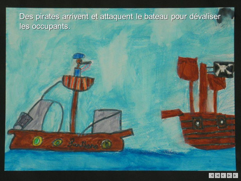 C'est l'histoire d'une demoiselle et d'un homme qui s'appellent Julianne et Claude. Ils naviguent sur un bateau, le Santiano. Ils veulent rentrer chez
