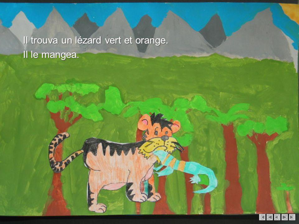 Un jour, bébé tigre eut très faim, alors il décida de partir tout seul pour chercher de la nourriture. Un jour, bébé tigre eut très faim, alors il déc