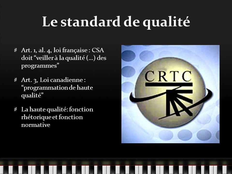 Le standard de qualité Art. 1, al.