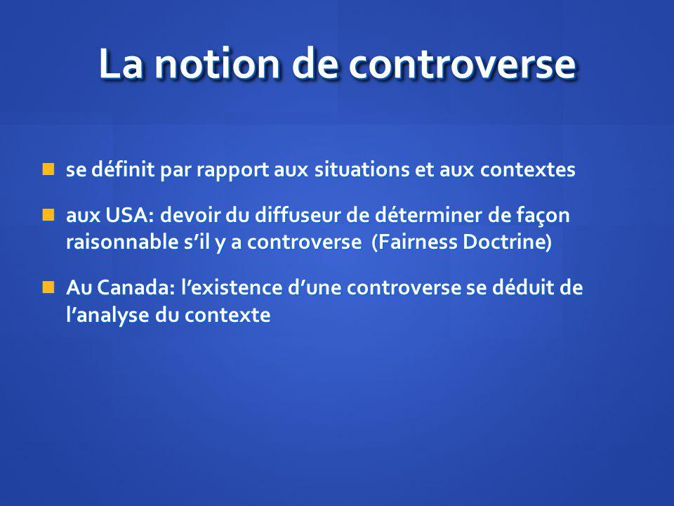 La notion de controverse se définit par rapport aux situations et aux contextes se définit par rapport aux situations et aux contextes aux USA: devoir