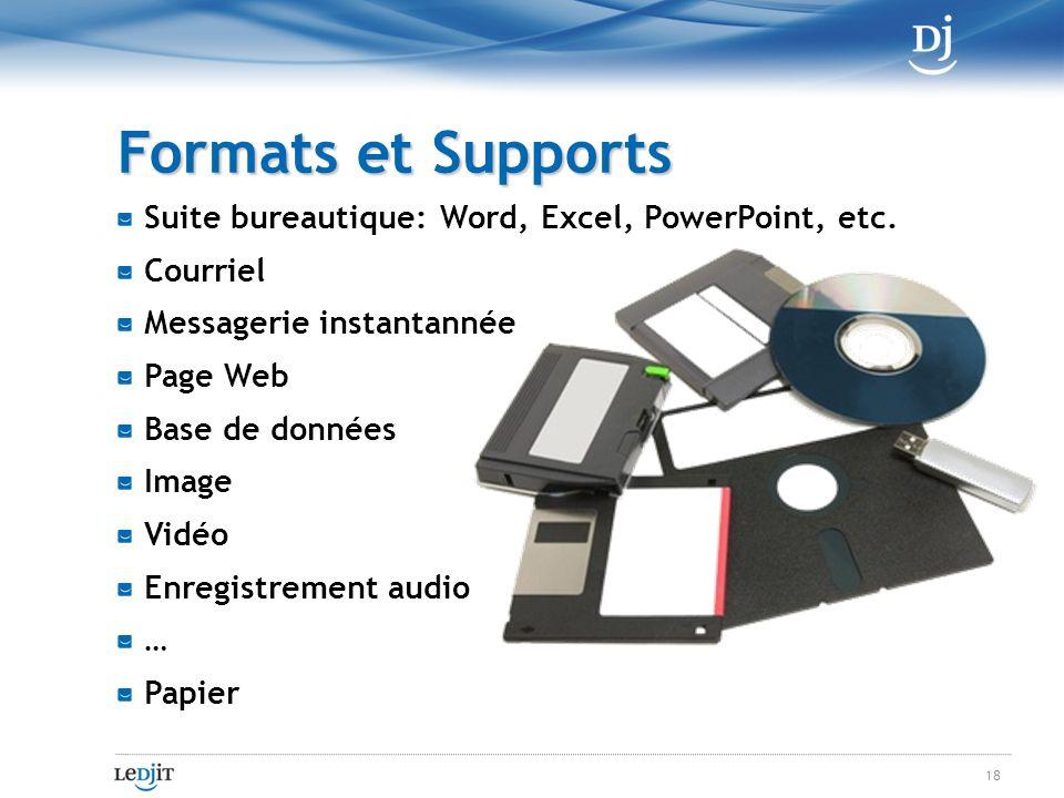 Suite bureautique: Word, Excel, PowerPoint, etc.