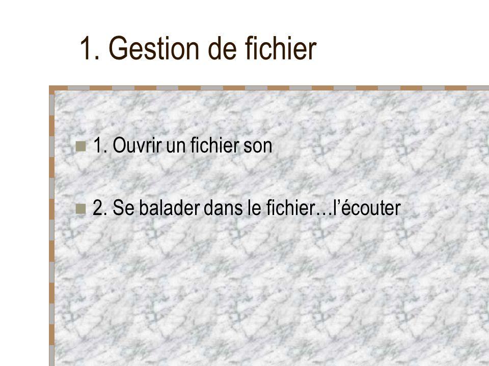 Le menu Read (cf.