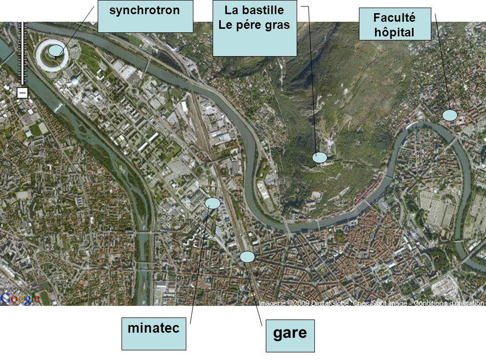 gare minatec synchrotronLa bastille Le pére gras Faculté hôpital