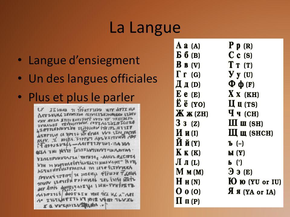 La Langue Langue densiegment Un des langues officiales Plus et plus le parler