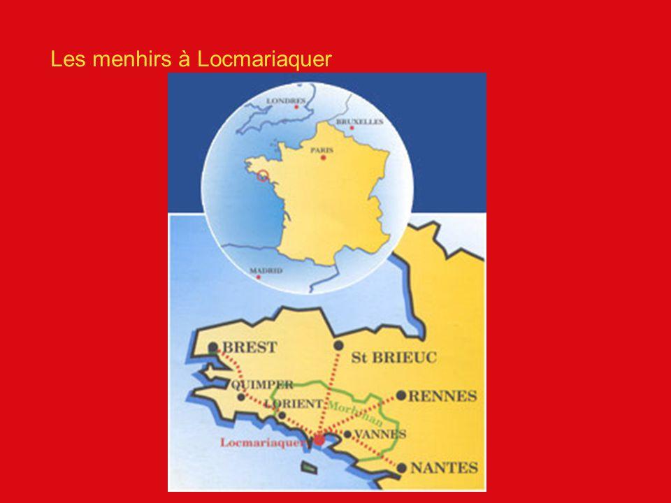 Les menhirs à Locmariaquer