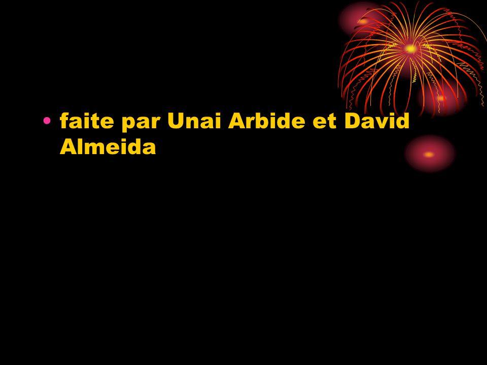 faite par Unai Arbide et David Almeida