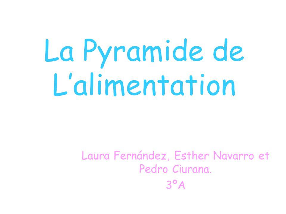 La Pyramide de Lalimentation Laura Fernández, Esther Navarro et Pedro Ciurana. 3ºA