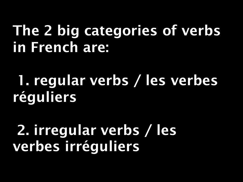 So here is an example of a regular -re verb conjugated au négatif je vendsnous vendons tu vendsvous vendez il/elle/on vend ils/elles vendent vendre = to sell