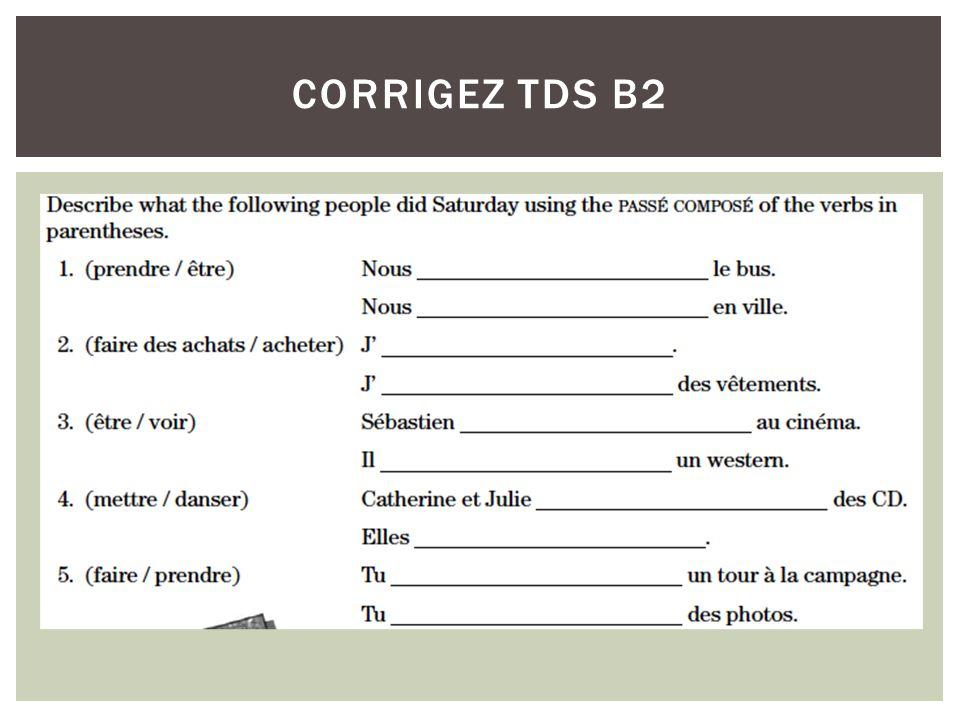 CORRIGEZ TDS B3
