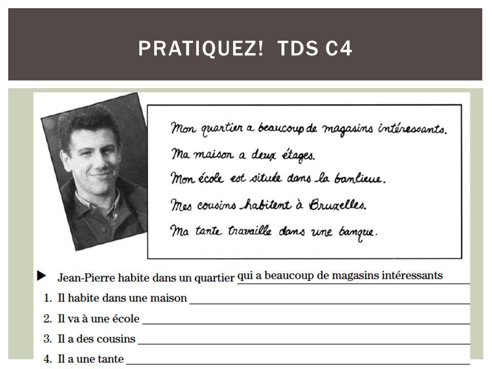 PRATIQUEZ! TDS C4
