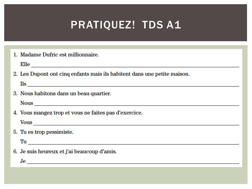 PRATIQUEZ! TDS A1