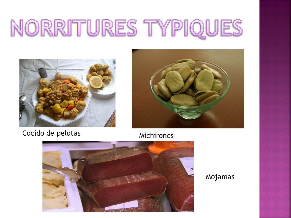 Cocido de pelotas Michirones Mojamas