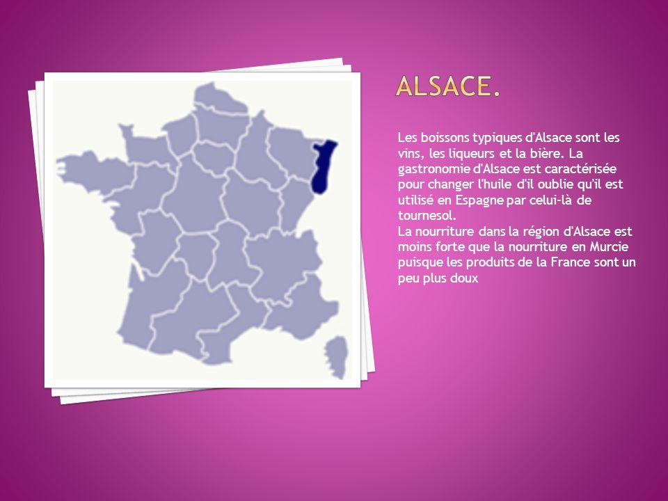Les boissons typiques d Alsace sont les vins, les liqueurs et la bière.