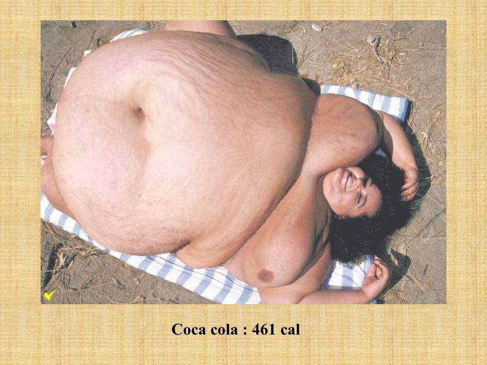 Coca cola : 461 cal