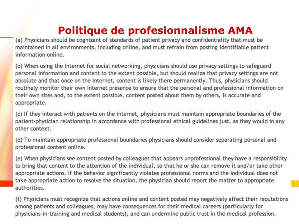 Politique de profesionnalisme AMA