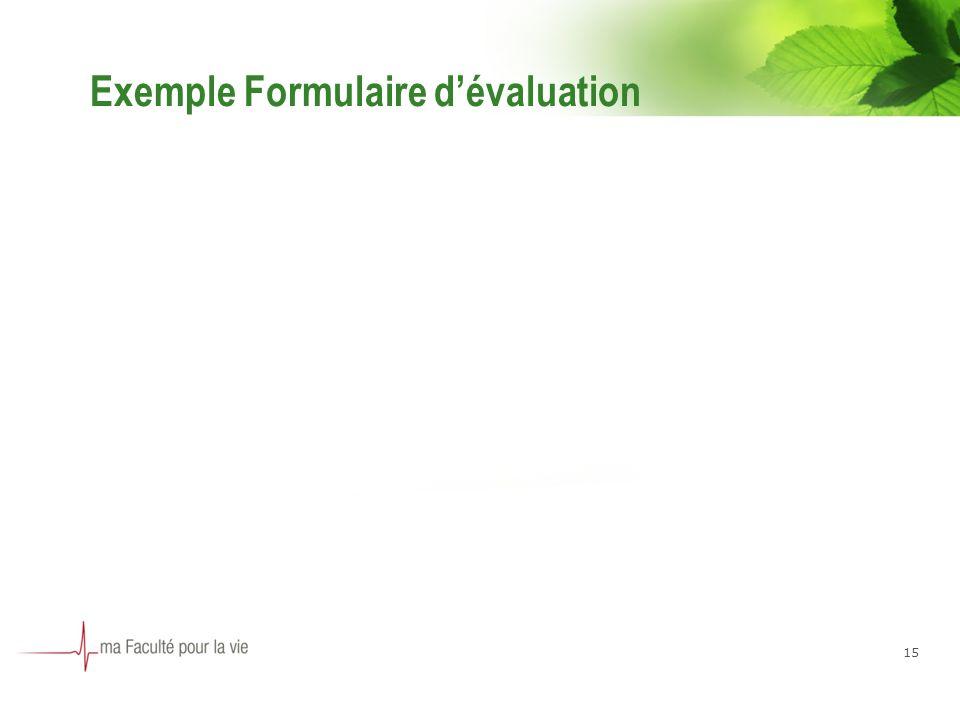 Exemple Formulaire dévaluation 15