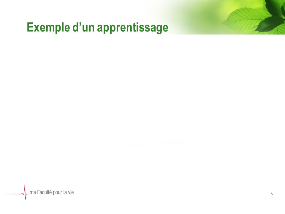 Exemple dun apprentissage 6