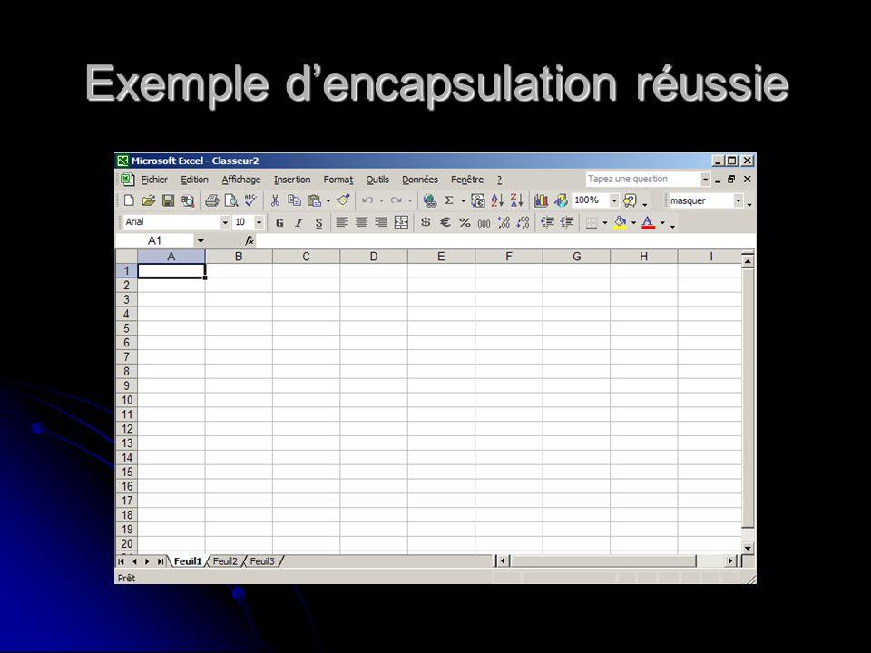 Exemple dencapsulation réussie
