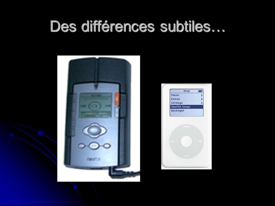 Des différences subtiles…