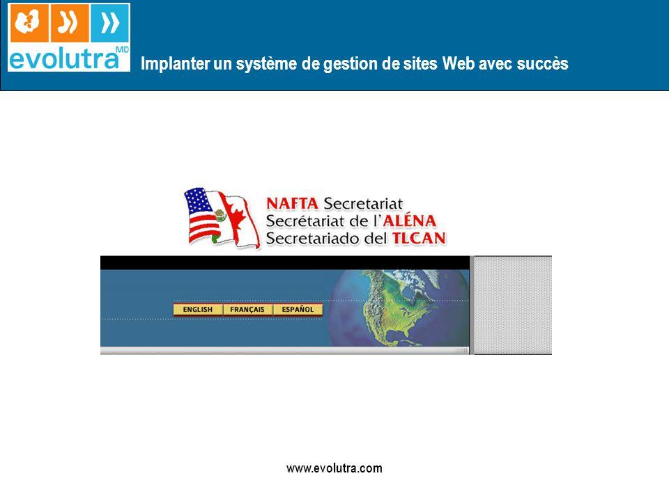 Implanter un système de gestion de sites Web avec succès www.evolutra.com