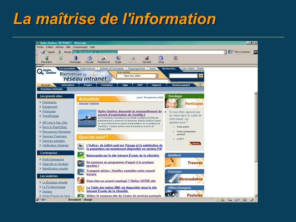 La maîtrise de l information