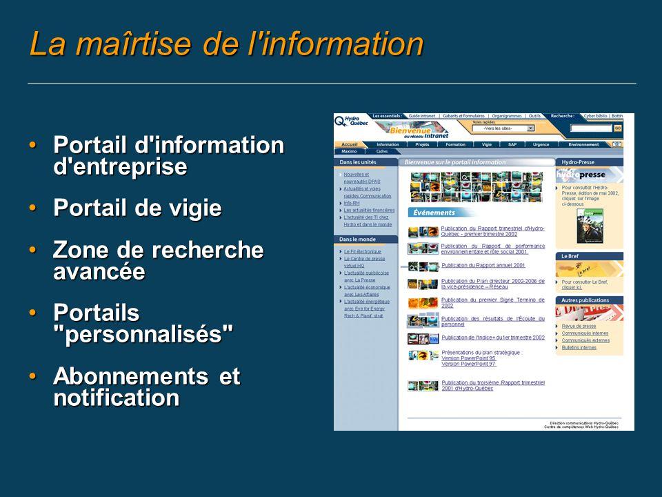 L information (3) Les médias internes