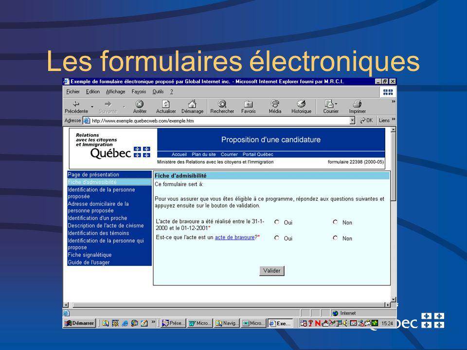 Les formulaires électroniques
