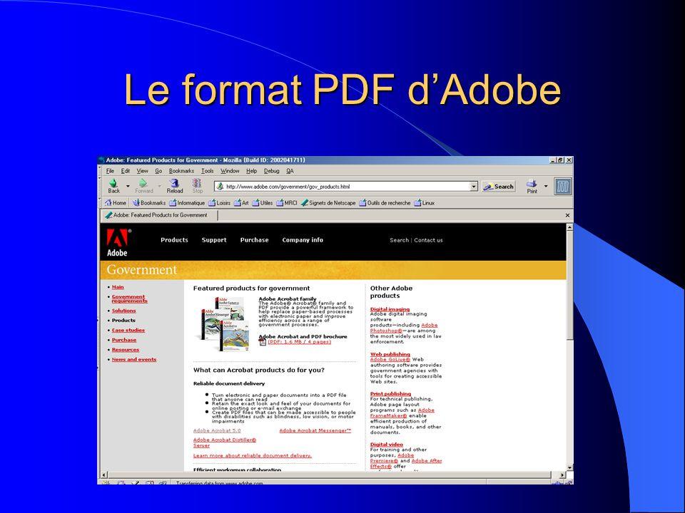 Le format PDF dAdobe