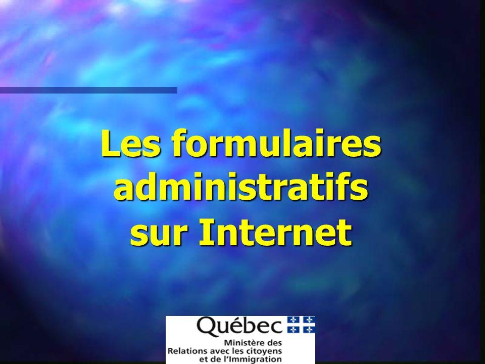Les formulaires administratifs sur Internet